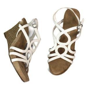 Kelly & Katie Plushin White Woven Wedge Sandals
